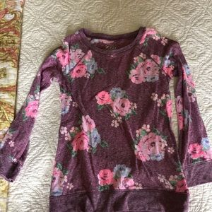 Justice size 7 floral top